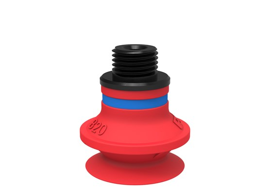 "Suction cup B20 Silicone, G1/8"" male/M5 female, with mesh filter"
