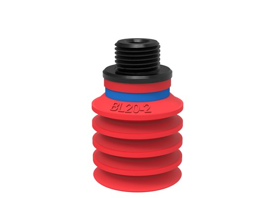 "Suction cup BL20-2 Silicone, G1/8"" male/M5 female"