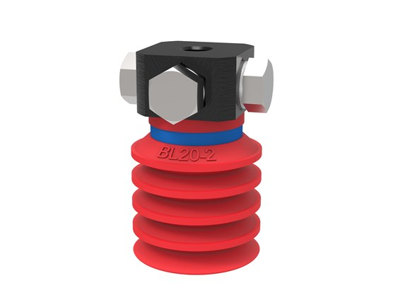 Suction cup BL20-2 Silicone, 5xM5 female