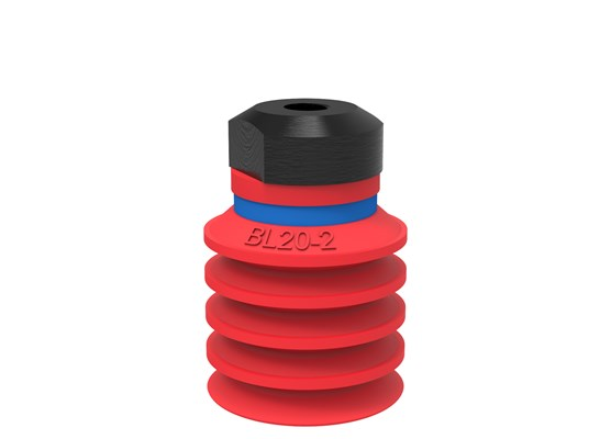 Suction cup BL20-2 Silicone, M5 female, with dual flow control valve