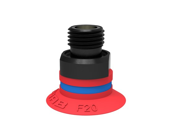 "Suction cup F20 Silicone, G1/8"" male, with mesh filter"
