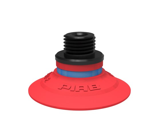 "Suction cup F30-2 Silicone, G1/8"" male/M5 female, with mesh filter"