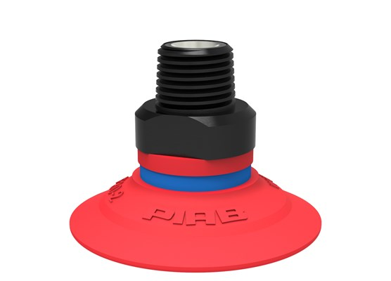 "Suction cup F30-2 Silicone, 1/8"" NPT male, with dual flow control valve"