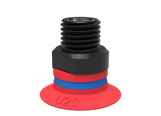 "Suction cup U20 Silicone, 1/8"" NPT male, with mesh filter"