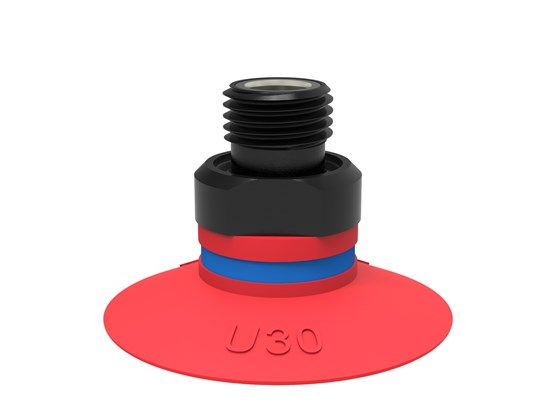 "Suction cup U30 Silicone, G1/8"" male, with mesh filter"