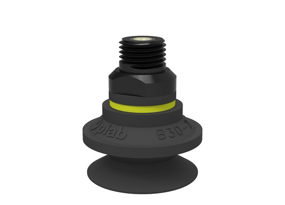"Suction cup B30-2 Chloroprene, 1/4"" NPT male, with dual flow control valve"