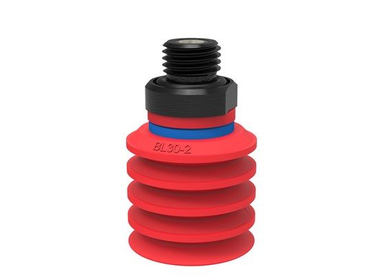 "Suction cup BL30-2 Silicone, G1/4"" male, with mesh filter"