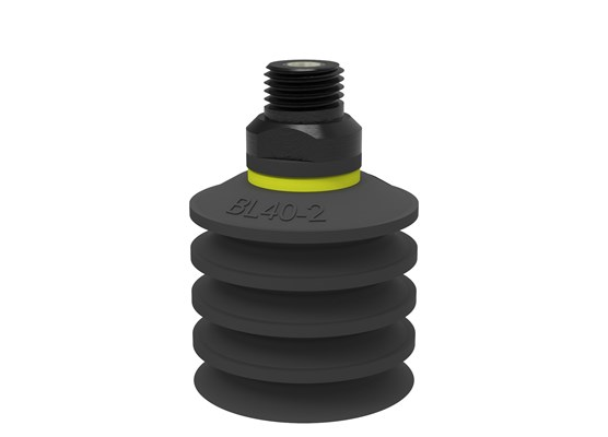 "Suction cup BL40-2 Chloroprene, 1/4"" NPT male, with dual flow control valve"