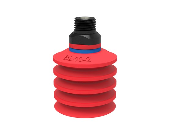 "Suction cup BL40-2 Silicone, 1/4"" NPT male, with mesh filter"