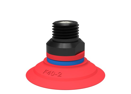 "Suction cup F40-2 Silicone, 1/4"" NPT male, with mesh filter"