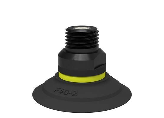 "Suction cup F40-2 Nitrile-PVC, 1/4"" NPT male, with mesh filter"