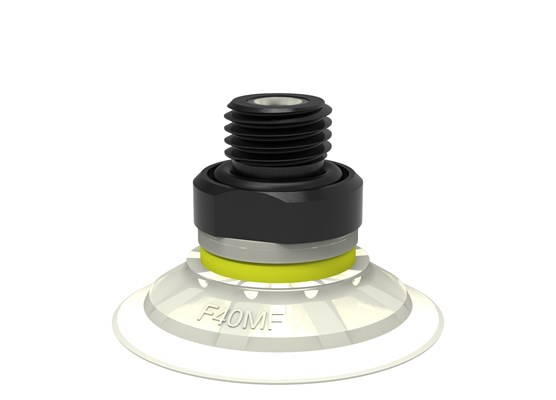 "Suction cup F40MF Thermoelastic polyurethane, G1/4"" male, with mesh filter"
