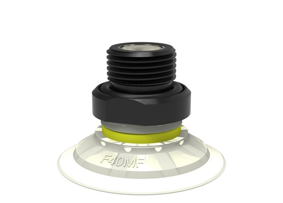 "Suction cup F40MF Thermoelastic polyurethane, G3/8"" male, with mesh filter"