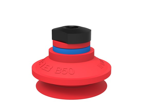 "Suction cup B50 Silicone, 1/8"" NPSF female, with mesh filter"