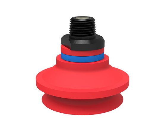"Suction cup B50-2 Silicone, NPT3/8"" male, with mesh filter"