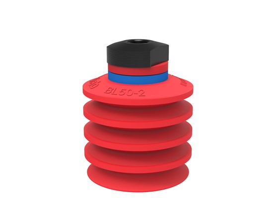 "Suction cup BL50-2 Silicone, 1/8"" NPSF female, with dual flow control valve"