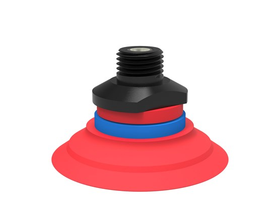 "Suction cup F50-2 Silicone, 1/4"" NPT male, with mesh filter"