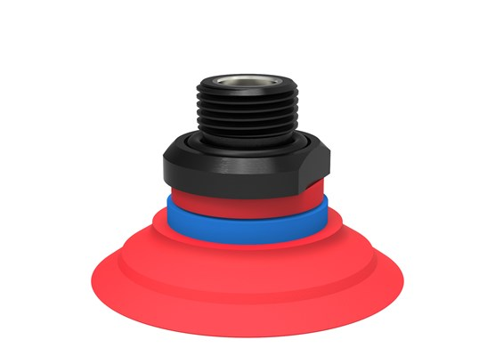 "Suction cup F50-2 Silicone, G3/8"" male, with mesh filter"