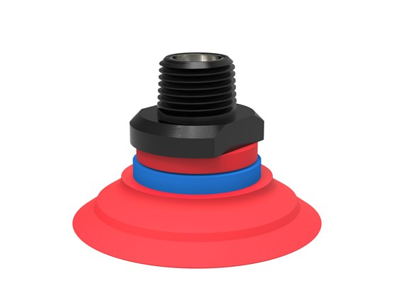 "Suction cup F50-2 Silicone, NPT3/8"" male, with mesh filter"