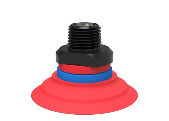 "Suction cup F50-2 Silicone, NPT3/8"" male, with dual flow control valve"
