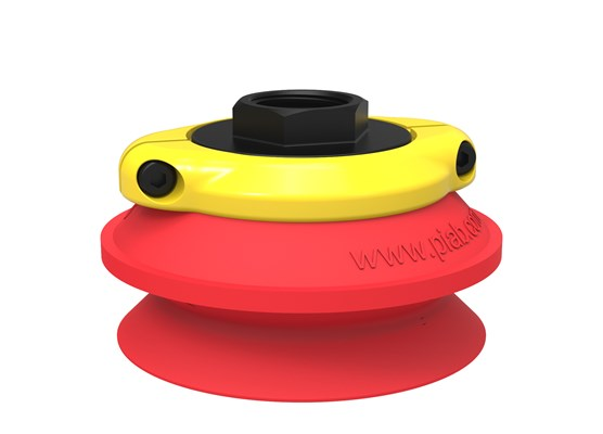 "Suction cup B75 Silicone, G1/2"" female, with mesh filter"