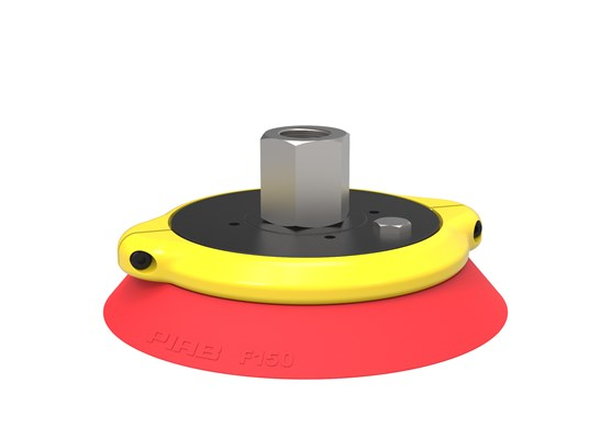 "Suction cup F150 Silicone, G1/2"" female, with cone valve"