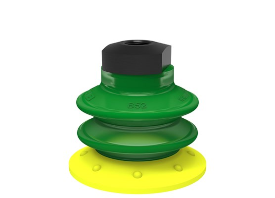 "Suction cup BX52P Polyurethane 30/60 with filter, 1/8"" NPSF female, with dual flow control valve"