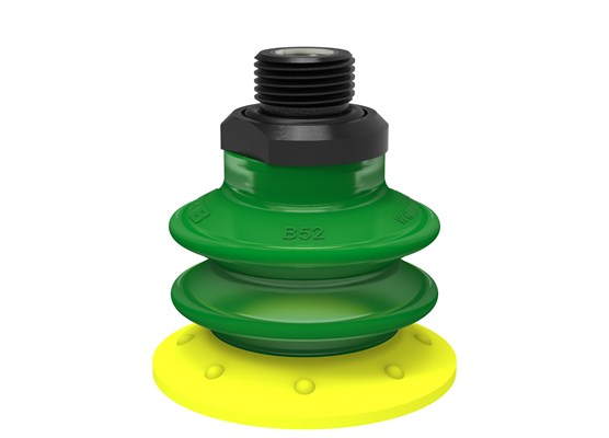 "Suction cup BX52P Polyurethane 30/60 with filter, G3/8"" male, with mesh filter"