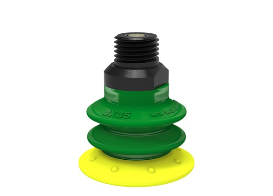"Suction cup BX35P Polyurethane 30/60 with filter, 1/4"" NPT male, with mesh filter"