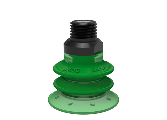 "Suction cup BX35P Polyurethane 60 with filter, 1/4"" NPT male, with mesh filter"