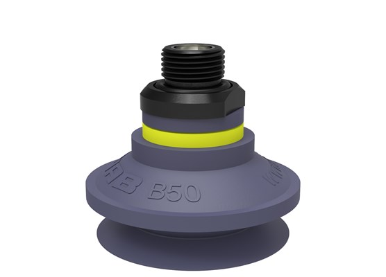 "Suction cup B50 HNBR, G3/8"" male, with mesh filter"