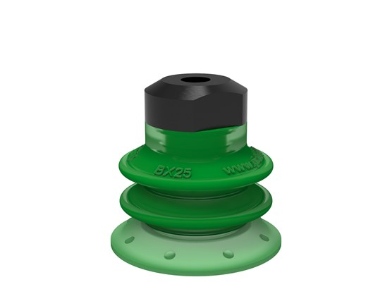 Suction cup BX25P Polyurethane 60 with filter, M5 female