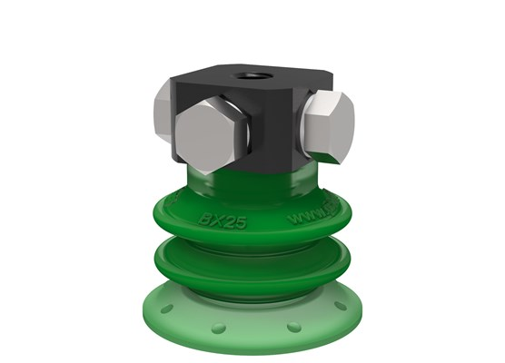 Suction cup BX25P Polyurethane 60 with filter, 5xM5 female