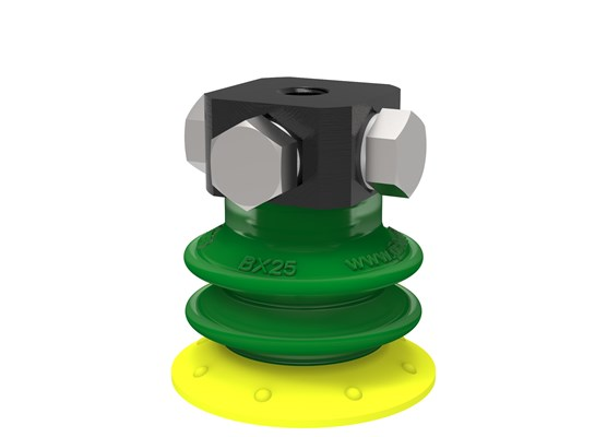 Suction cup BX25P Polyurethane 30/60 with filter, 5xM5 female