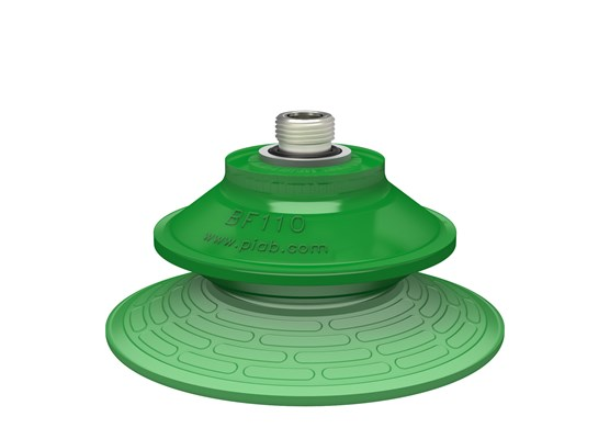"Suction cup BF110P Polyurethane 60, thread insert G3/8"" male with mesh filter"