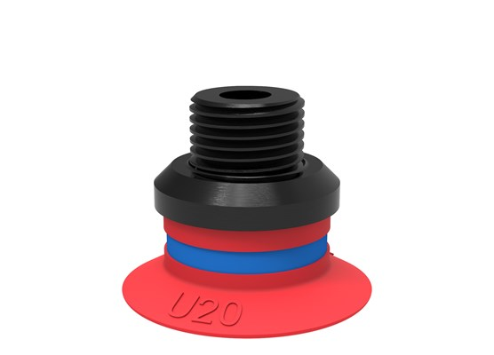 "Suction cup U20 Silicone, G1/8"" male/M5 female, PA"