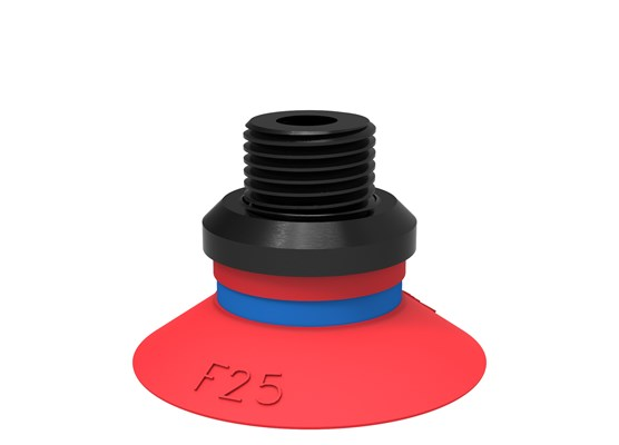 "Suction cup F25 Silicone, G1/8"" male/M5 female, PA"
