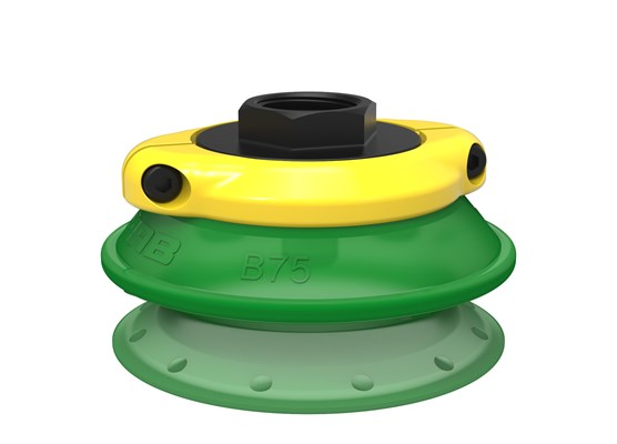 "Suction cup B75P Polyurethane 60, G1/2"" female, with mesh filter"