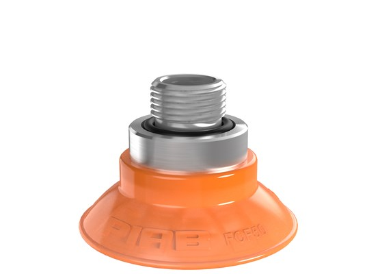 "Suction cup FCF50P Polyurethane 55/60, G3/8"" male, with mesh filter"