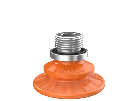 "Suction cup BFF40P Polyurethane 55/60, G3/8"" male, with mesh filter"