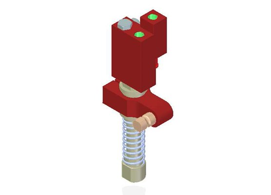 Vacuum Check Valve VT-1H COAX® with level compensator, G threads, Lock pin 16, Right hand connection