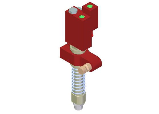Vacuum Check Valve VT-1H COAX® with level compensator, NPT threads, Lock pin 16, Right hand connection