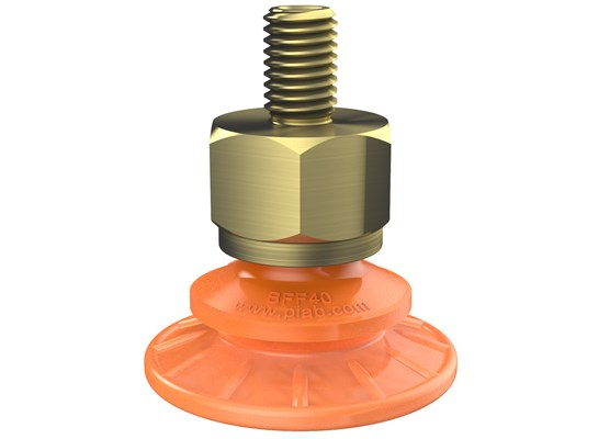 Suction cup BFF40P Polyurethane 55/60, M10x1.5 male