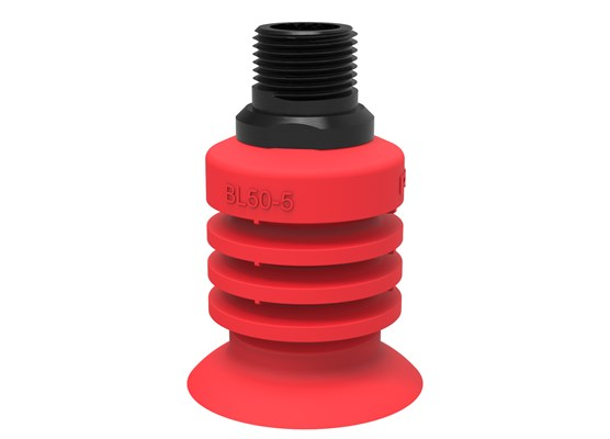"Suction cup BL50-5 Silicone, 1/2"" NPT male"