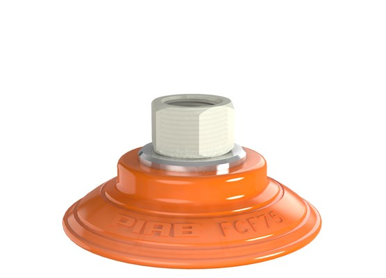 "Suction cup FCF75P Polyurethane 55/60, G3/8"" female, plastic thread"