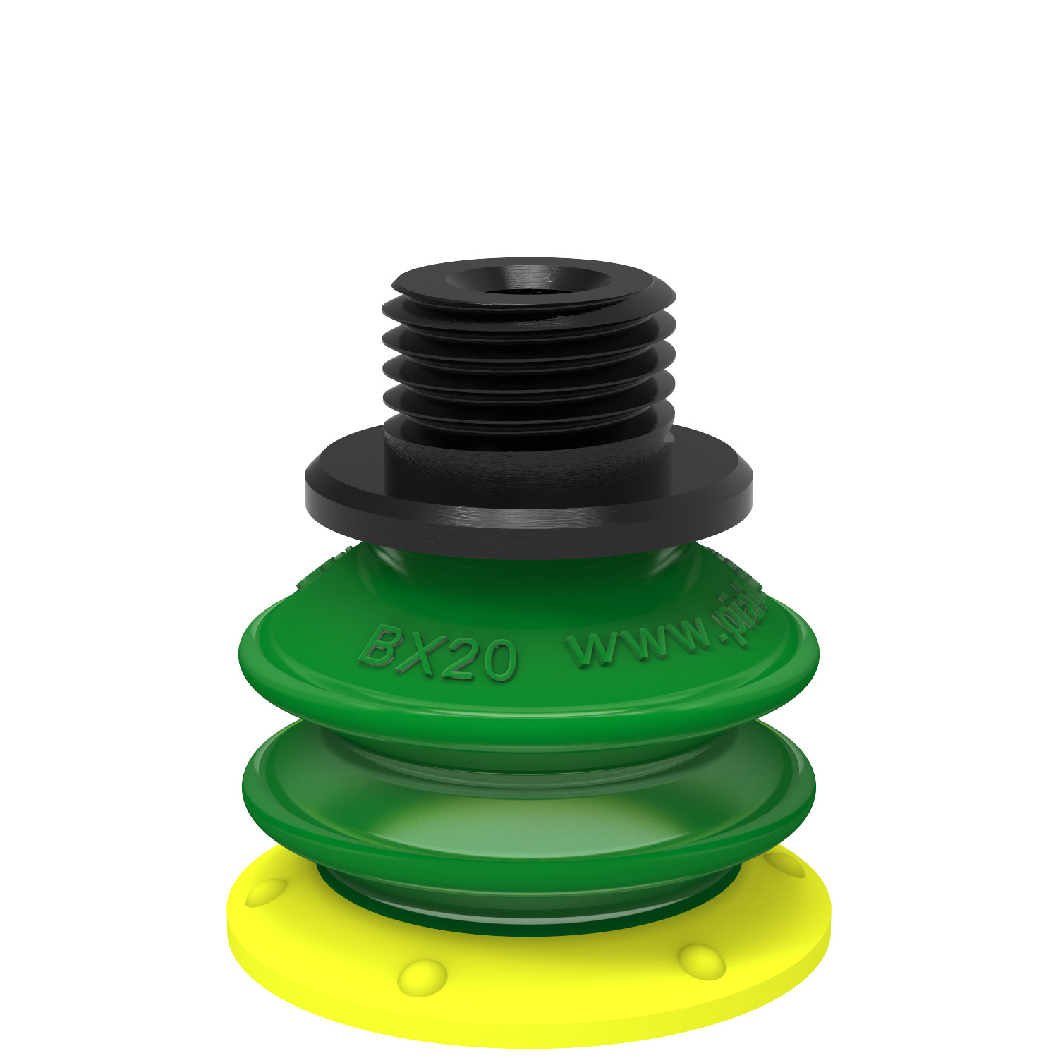 sourcing map Bellows Suction Cup,12mm Diameter x M5 Joint Silicone Vacuum Industrial Pneumatic Suction Cup 4pcs
