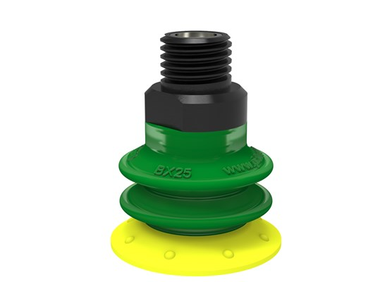 "Suction cup BX25P Polyurethane 30/60 with filter, 1/8"" NPT male  with mesh filter"