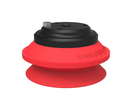 "Suction cup B75 Silicone, G1/2"" female Al, with mesh filter"