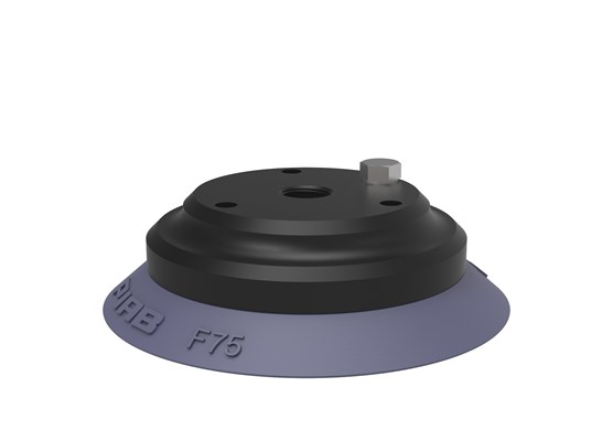 "Suction cup F75 HNBR, 1/4"" NPT female Al, with mesh filter & 10-32 addl. conn."