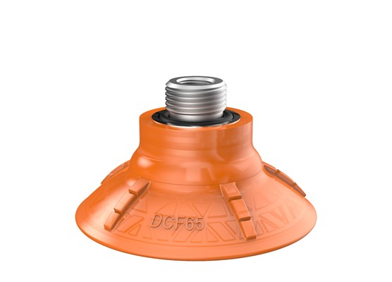 "Suction cup DCF65P Polyurethane 60, G3/8"" male, 1/8"" NPSF female, with mesh filter"